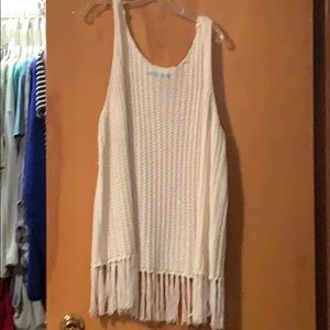 Maurices open knit sleeveless cardigan